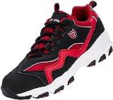 Zapatillas de Seguridad Hombre Mujer,SBP Sra Anti-Deslizante Punta de Acero Ultraligero Transpirables Zapatos de Seguridad,44 EU,Blanco Rojo Negro