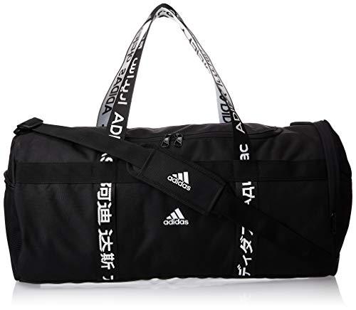 adidas 4athlts Duf M Bolsa Lona de Deporte, Unisex Adulto, Black/Black/White, NS
