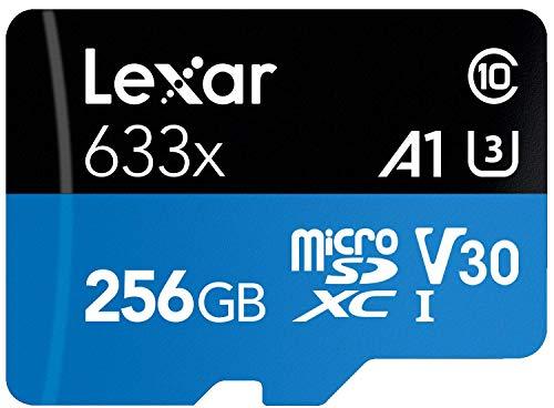 Lexar 256GB Micro SDHC con Adaptador SD, SD Adapter, Marino