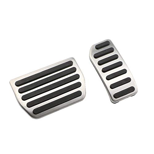 Auto Stainless Steel Auto Gas Pedal Cover Brake Pedals/Fit For - Volvo XC60 V60 S60 S40 C30 2010-2016 / Accessories Parts (Colore : 2Pcs AT)