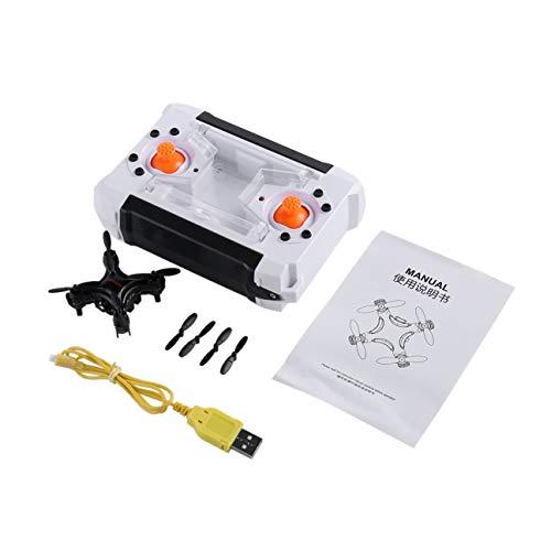 Feketeuki FPVRC Q7 a Quattro Assi a 4 canali 6 Assi Gyro RC Nano Quadcopter Mini Pocket Drone Bianco / Nero con Flip 3D-