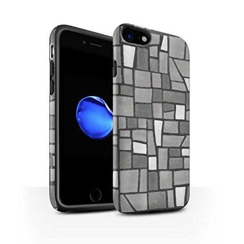 Stuff4 Telefoonhoesje/Cover/Skin/IP-3DTBM / Mozaïek Tegels Collectie Apple iPhone SE 2020 Grijs/Wit