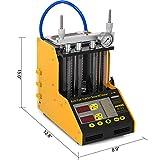 AMACCHI Auto Cleaner Tester per Iniettori di Carburante 6 Cilindri Utensili per la Pulizia ad Ultrasuoni Benzina CT200