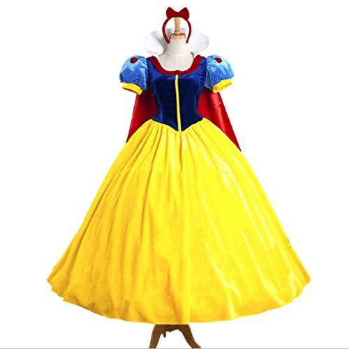 Mitef Vestido De Blanca como La Nieve Falda De Ballet Disfraz De Halloween, L
