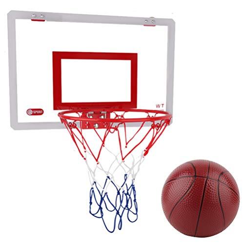 None Mini Aro de Baloncesto con Baloncesto para Los Amantes del Baloncesto Niños Niñas Interior Al Aire Libre (Color Surtido)