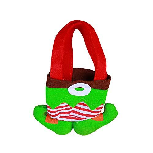 Ponnen Weihnachten Süßigkeitentasche Geschenktüten Clown Elf Geist Wizard Hose Anhänger Hängen Geschenktüten für Weihnachten Party Weihnachtsdekoration Green