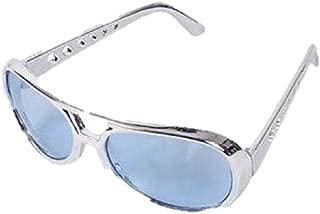 Rock Star Sunglasses Blue Lens Silver Frame One Pair