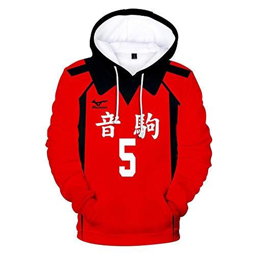 CHLOBLOM Haikyuu Cosplay Costume Nekoma Hoodie Kozume Kenma Sweatshirt Kuroo Tetsurou Sweater T-Shirt (Large, Kind 5)