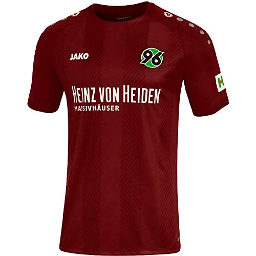 JAKO Herren Fußballtrikot Hannover 96 Home Kurzarm Bordeaux (502) M