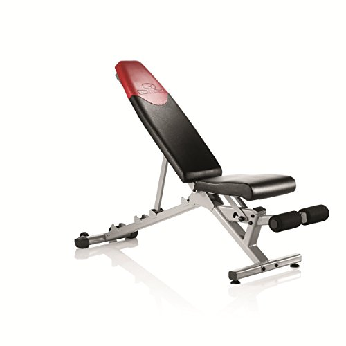 Bowflex - 4.1 Bench Banco de gimnasio para pesas, Adultos Unisex, Rojo, Negro, Gris, Talla Única