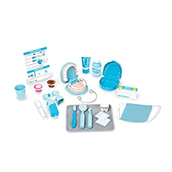 Melissa & Doug Super Smile Dentist Kit with Pretend Play Set of Teeth and Dental Accessories  26 Toy Pieces