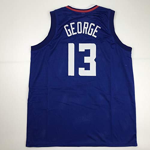 Unsigned Paul George Los Angeles LA Blue Custom Stitched Basketball Jersey Size Men's XL New No Brands/Logos