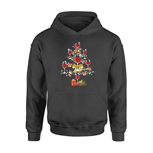 Copa de vino árbol de Navidad divertido regalo de Navidad – Sudadera con capucha