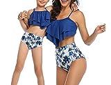 Madre e Hija Bikinis Traje de baño, Mamá bebé Bañadores de Mujer de Verano Playa, Conjunto de Bikini de Baño Niñas Traje de Baño para Niña Bañador Cuello Halter de Dos Piezas (H, M-Mujer)