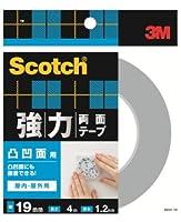 3M 強力両面テープ 凹凸面用 (SKH-19) 19×4m ケース10巻入り