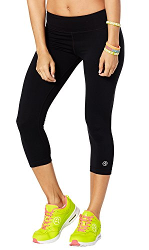 Zumba Dance Fitness Compression Pants Basic Capri Workout Leggings for Women