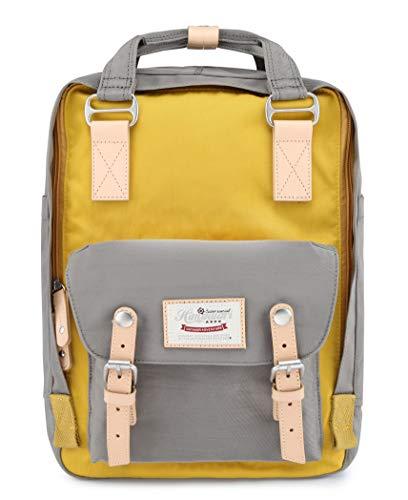 Himawari School Functional Travel Waterproof Backpack Bag for Men & Women   14.9'x11.1'x5.9'   Holds 13-in Laptop (HIM-HIM-51#)