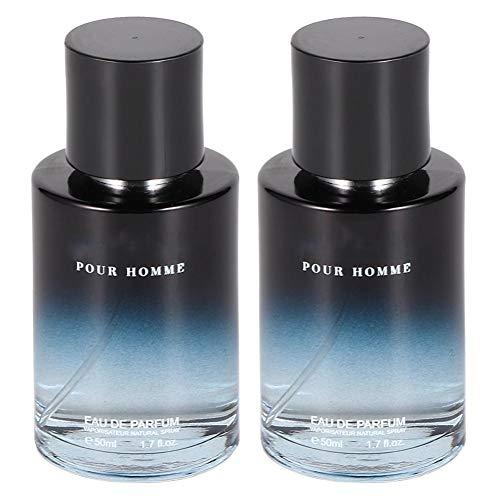50ml * 2 Perfume para hombres, limón Front Note Perfume Fragancia de larga duración Perfume Holy Basil Hyacinth Fragrance Highlight The Charm Of Men, el mejor regalo de cumpleaños