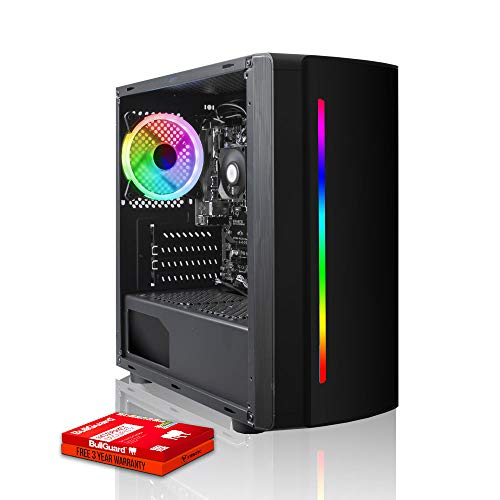 Fierce Crusader RGB Gaming PC - Veloce 4.0GHz Quad-Core AMD Ryzen 3 2300X, 240GB Disco a Stato Solido, 8GB 3000MHz, NVIDIA GeForce GTX 1650 4GB, Finestre non Incluso 1135692