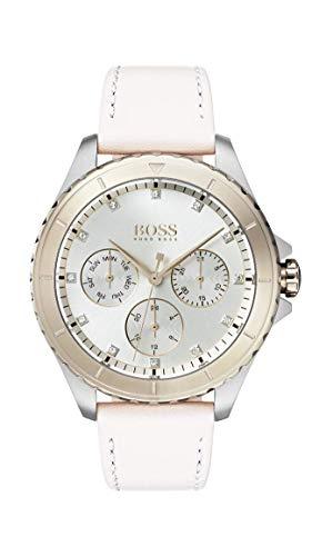 Hugo Boss Damen Multi Zifferblatt Quarz Uhr mit Leder Armband 1502448