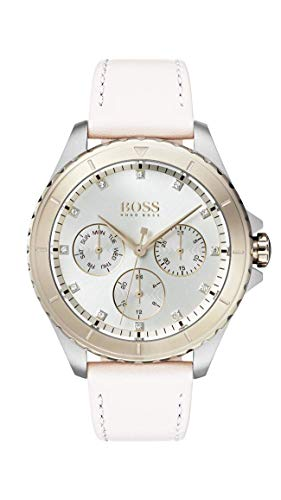 Hugo Boss Damen Multi Zifferblatt Quarz Uhr mit Leder Armband 1502448