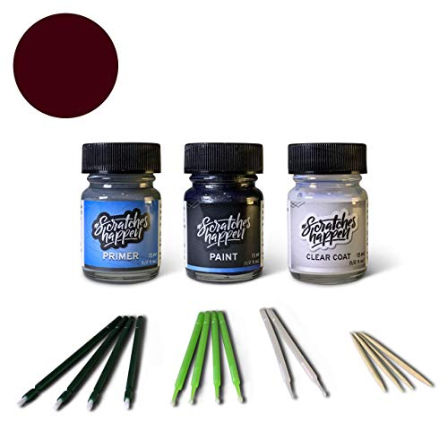 ScratchesHappen Exact-Match Touch Up Paint Kit Compatibel met Ford/Lincoln Merlot (FX/M7087A) Preferred