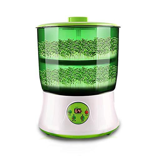 PICKME Bohnensprossen Maschine, LED-Anzeige Zeitsteuerung, Intelligente Automatische Sojasprossen Maschine, Samen Grow-Getreide-Tool