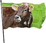 not applicable Natur Tier niedlich Kuh Vieh fliegen Brise 3 x 5 Fuß Polyester Flagge verblassen beständig langlebig Strand Fahnen mit Header und Messing Tülle einfach zu bedienen