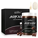 Coffee Exfoliating Booty Body Scrub with Natural Organic Brown Sugar and Coconut oil - 10.6oz Premium Exfoliating Body Scrubs with loofah body scrubber for Women/Men Exfoliation Cellulite Stretch Mark Gift