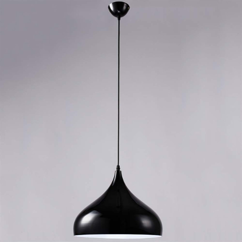 Douerye Restaurant-Kronleuchter im nordischen Stil Postmoderner einfacher Aluminium-Kronleuchter - Backende, Rostschutz, robust und langlebig,schwarz,32cm