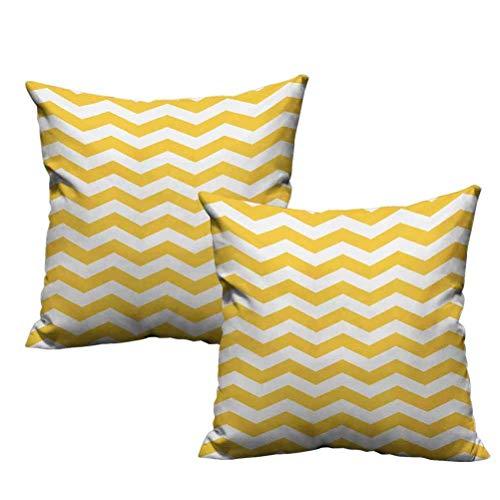 Funda de almohada para bebé Chevron amarillo Patrón de temporada de verano moderno Diseño de azulejos en zigzag Motivo horizontal ondulado Suave y acogedor, arrugas, decoloración, resistente a las man