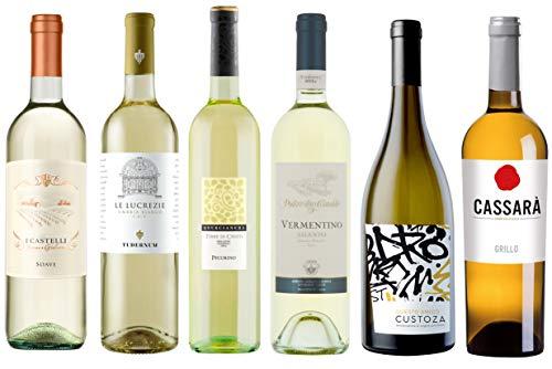 Wein-Probierpaket Weißweinreise durch Italien (6 x 0,75 l) Wein-Tasting-Set