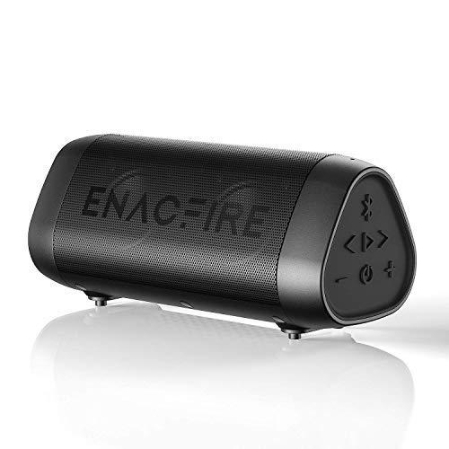 ENACFIRE SoundBar Bluetooth Lautsprecher, 12W Kabellose Tragbare Musikbox mit Freisprechfunktion, 25 Stunden Spielzeit, 30m Bluetooth Reichweite, IPX7 Wasserdicht