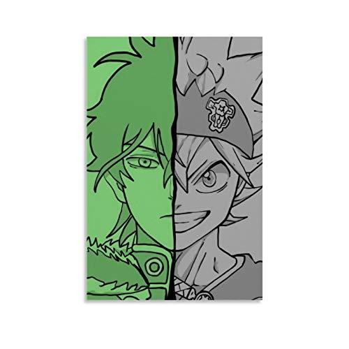 DRAGON VINES Anime Trébol Negro Asta Y Yuno Grinbellor puede colgar pinturas decoración de pared de dormitorio 50 x 75 cm