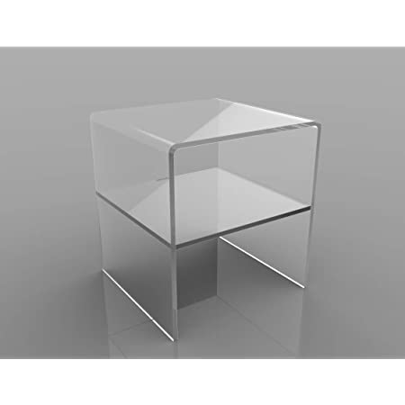 Spessore 10mm 60x30x30 LAC Tavolino Comodino Consolle Soggiorno per il divano in plexiglass acrilico Trasparente accessorio Design poggiapiedi
