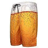Fashion Herren Badeshorts Oktoberfest Shorts Sparen Sie Komfort und atmungsaktive Sommer Strandhosen Schmale Sporthose mit Wildbier-Aufdruck Reise Fitness Yoga-Shorts Badehose