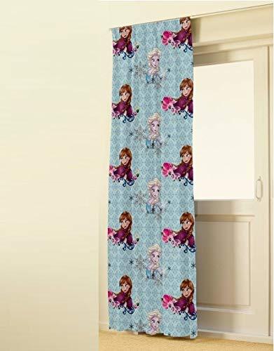 I ELSA und Anna Disney die Eiskönigin völlig unverfroren Frozen 1 Stück XXL Deluxe Fertig-Schal/Gardine/Vorhang L 250cm x B 140cm Sun/DIM Out Effekt NEU