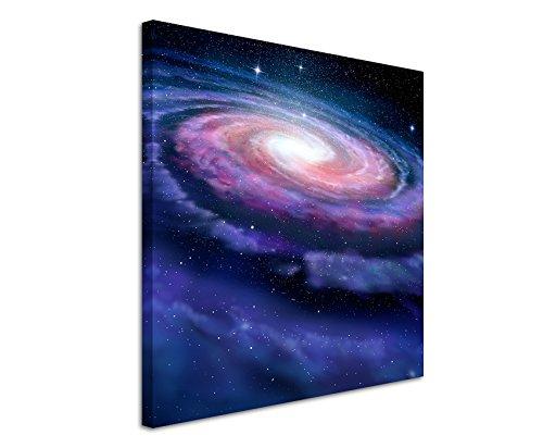 Paul Sinus Art Leinwandbild 60x60cm Illustration – Spiralförmige Galaxie auf Leinwand Exklusives Wandbild Moderne Fotografie für ihre Wand in vielen Größen