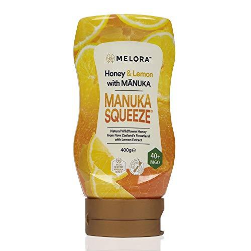 Manuka Squeeze - Manuka Honig in 6 herrlichen Geschmacksrichtungen MGO 40+ | 400g (Lemon)
