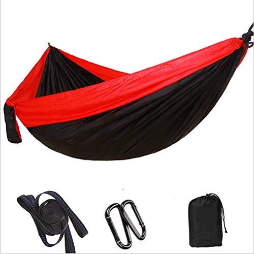 Parachute tissu hamac_fabricant extérieur ultra-léger portable nylon soie parachute tissu de couleur correspondant hamac-rouge