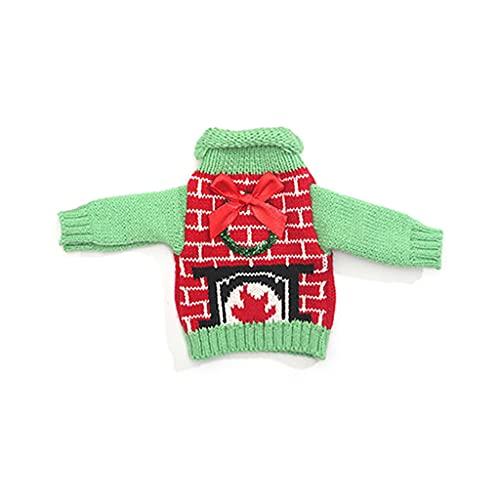IOOOFU Suéter navideño Cubierta para Botella de Vino Suéteres de Punto Bolsa de Regalo para Botella de Vino - 03#