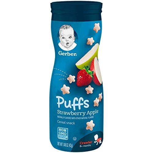 Gerber, Graduados, Aperativos Puffs cereales, Fresa Manzana, 1,48 oz (42 g)