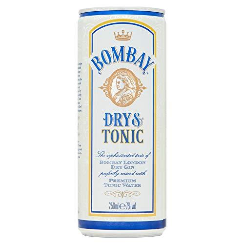 Bombay Dry & Tonic - Gin con tonica, 12 x 250 ml