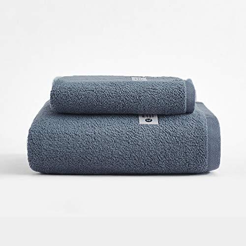 ZJM Juego de Toallas,Toallas de Alta absorción,1 * Toalla + 1 * Toalla de baño,Toallas de baño de algodón,Juego de Toallas de baño