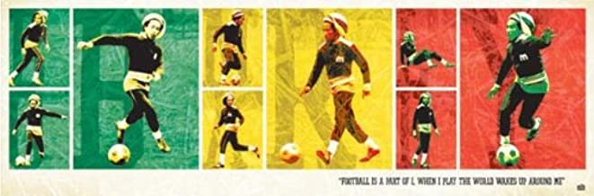 Culturenik Bob Marley Football Rasta Music (Sports, Soccer) Poster Print 12x36