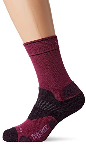 Bridgedale Damen Hike Midweight Merino Endurance Pattern Socken, Beere, m