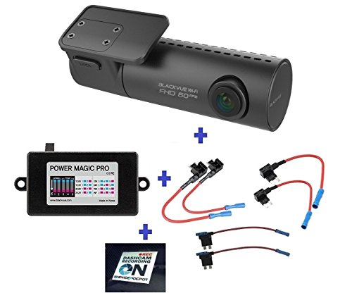 HDVD BlackVue New DR590W-1CH 64GB, Car Black Box/Car DVR Recorder, Full HD 1080p Front, 60FPS, Built-in Wi-Fi, G Sensor, 64GB SD Card + Power Magic Pro + Fuse Tap Warning Sign Included