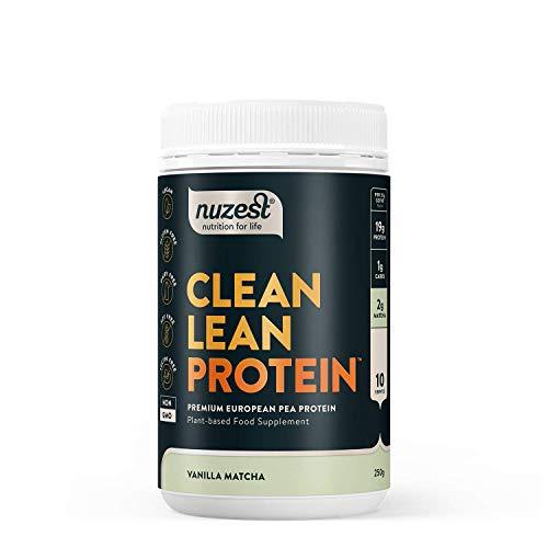 Nuzest Clean Lean Protein Premium Vegan Pea Protein Powder Plant Protein Dairy Free Gluten Free GMO Free Naturally Sweetened 20 Servings
