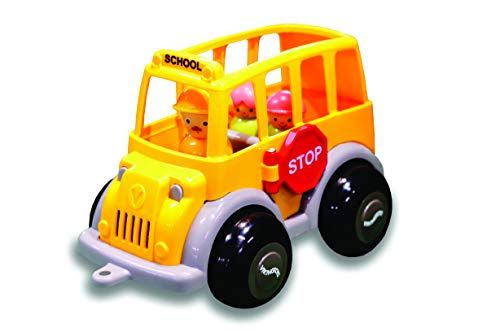 Viking Toys - Midi School Bus - 9' Toy Vehicles Comes with 3 Figures, Working Stop Sign, for Kids Ages 1 Year +