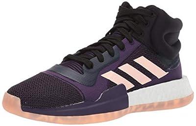 adidas Men's Marquee Boost Low, Collegiate Navy/Grey/Legend Purple, 7 M US